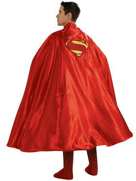 Deluxe Superman Cape Men's Costume