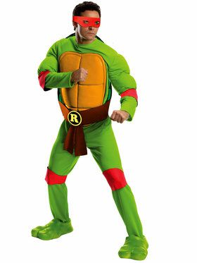 Deluxe Teenage Mutant Ninja Turtles Raphael Adult Costume