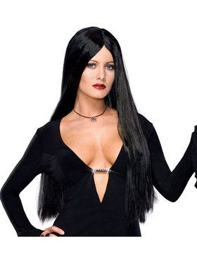 Deluxe the Addams Family Morticia Addams Wig Adult
