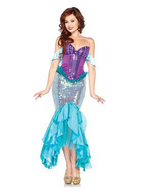 Deluxe The Little Mermaid Princess Ariel Disney Adult Costume