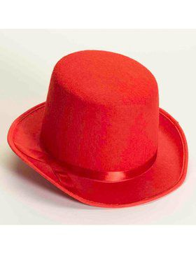 Deluxe Top Hat in Red
