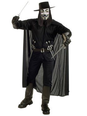 Deluxe V for Vendetta Costume Adult