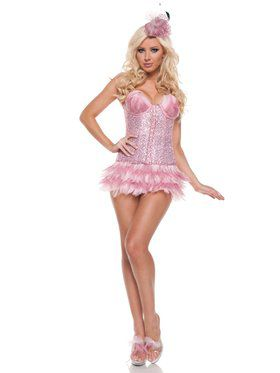 Deluxe Womens Sexy Flamingo Costume