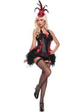 Deluxe Womens Sexy Moulin Rouge Costume