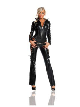 Deluxe Womens Sexy Rebel Catsuit Costume