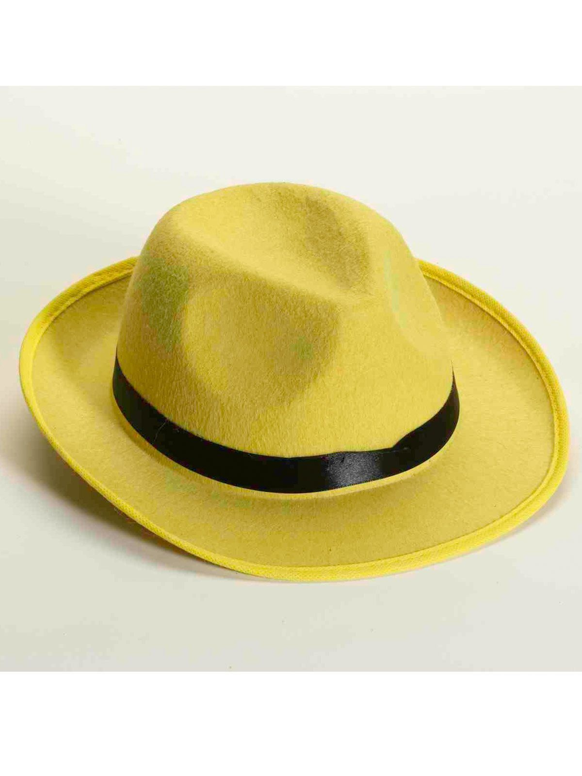 Deluxe Yellow Felt Fedora - Costume Accessories for 2018  0b5546f8d85