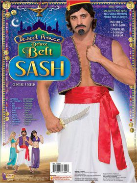 Desert Prince Adult Red Deluxe Sash