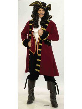 Adult Designer Large Pirate Captain Costume