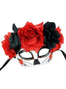 Dia De Los Meuertos Mask with Flowers