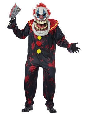 Big Mouth Die Laughing Clown Adult Costume