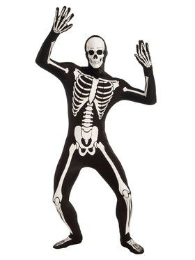 Disappearing Man - - Skeleton - Standard Adult Costume