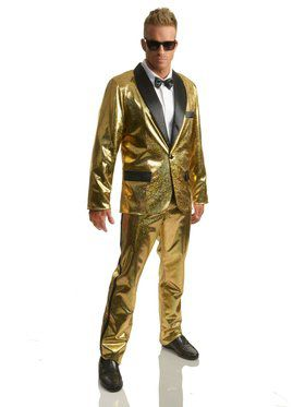 Adult's Disco Ball Tuxedo Jacket with Pants
