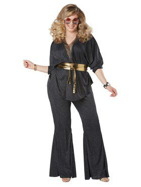 Womens Plus Size Disco Dazzler Costume