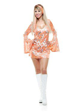 Disco Doll Adult Tangerine