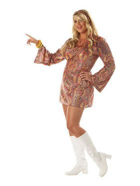 Disco Dolly Adult Plus Size Costume