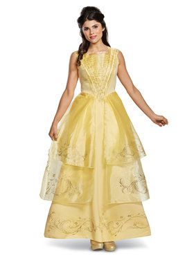 Amazing Disney Beauty And The Beast   Belle Ball Gown Deluxe Adult Costume