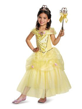Superb Disney Belle Deluxe Sparkle Costume For Toddlers