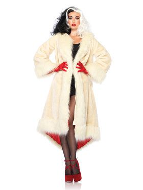 Disney Cruella de Vil Fur Coat Adult