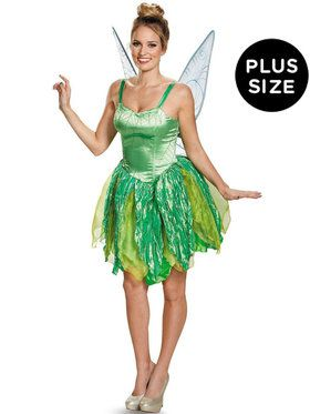 Plus Size Disney Fairies Tinker Bell Prestige Costume For Women