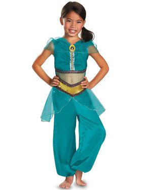 Disney Jasmine Sparkle Classic Childrens Costume