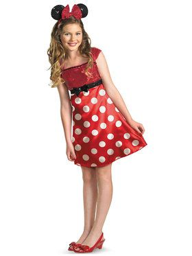 Disney Mickey Mouse Clubhouse Red Minnie Mouse / Tween Costume For Children