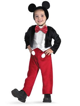 Disney Mickey Mouse Deluxe Costume For Toddlers