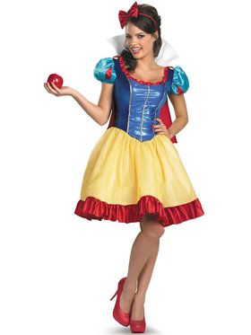 Plus Size Disney Princess Snow White Fab Deluxe Costume For Women