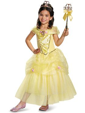 Disney's Beauty and the Beast Belle Deluxe Girls Costume