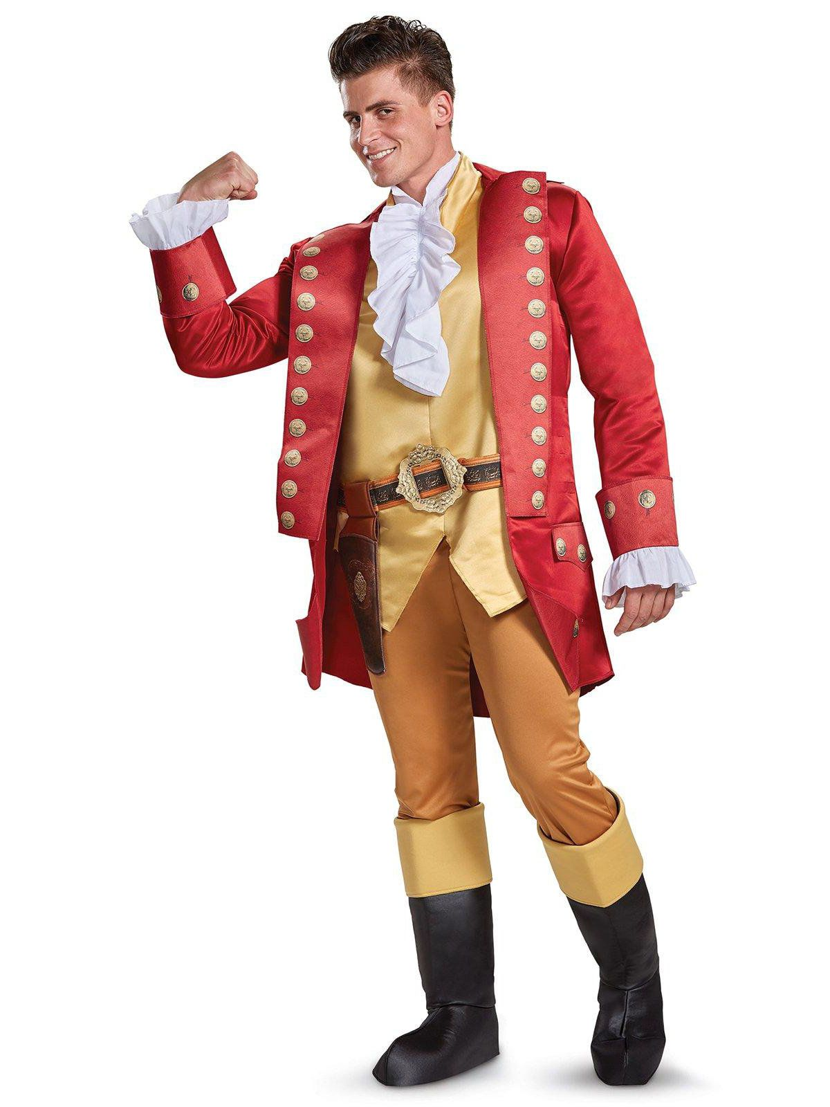 Adult Disneyu0027s Beauty and the Beast Live Action Gaston Costume Deluxe For Adults  sc 1 st  Wholesale Halloween Costumes & Adult Disneyu0027s Beauty and the Beast Live Action Gaston Costume ...