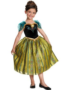 Disney's Frozen Anna Coronation Gown Deluxe Child Costume
