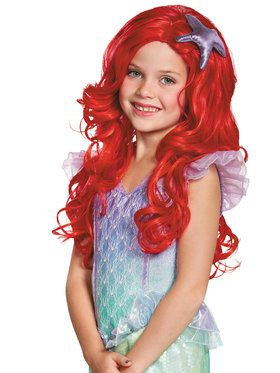 Disney's The Little Mermaid Ariel Ultra Prestige Girls Wig