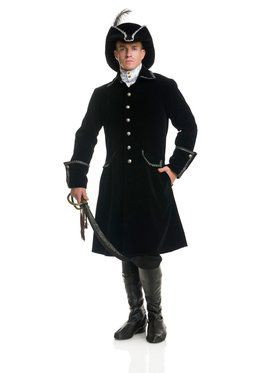 Distinguished Pirate Jacket Mens Costume