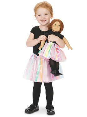"DIY Create Your Own Tutu Child Tutu S (4-6) with Matching 18"" Doll Tutu"