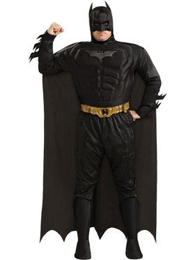 Dlx Dark Knight Muscle Chest Batman Plus Adult Costume