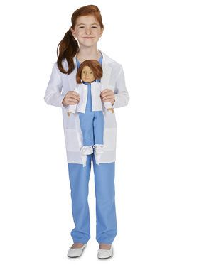 "Doctor Child Costume M (8-10) with Matching 18"" Doll Costume"