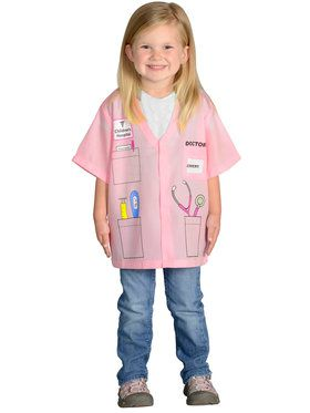 Doctor Kit Pink Girl's Costume