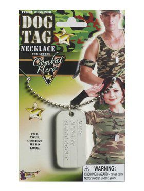 Military Soldier Dog Tags Accessory