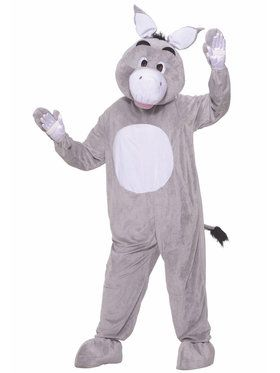Plus Size Donkey Plush Costume For Adults
