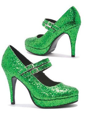 Double Strap Glitter Mary Jane 4 Inch