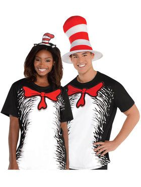 Cat In The Hat - T-Shirt - Adult Accessory