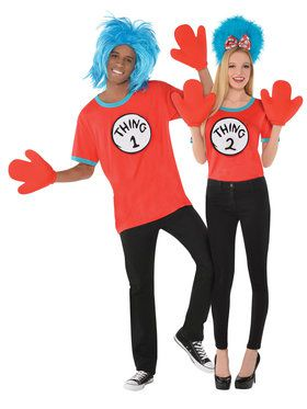 Cat In The Hat - Thing 1 And 2 - Adult Costume Kit
