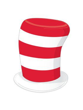 Cat In The Hat - Striped Hat - Adult Costume Accessory