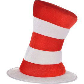 Cat In The Hat - Deluxe Striped Hat - Adult Costume Accessory
