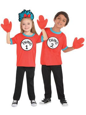 Cat In The Hat - Thing 1 And 2 - Child Costume Kit