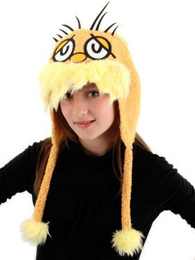 Dr. Seuss Lorax Hoodie Hat For Adults