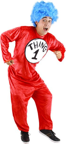 Dr. Seuss Thing 1/2 Men's Costume SM