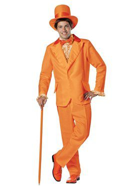 Dumber Orange Tuxedo Adult Costume