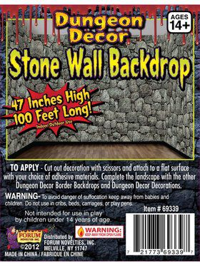 Dungeon Décor Stone Wall Backdrop
