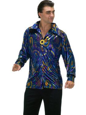 Dynomite Dude Disco Shirt Costume For Adults