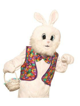 Adult Easter Bunny Vest and Bow Tie Kit